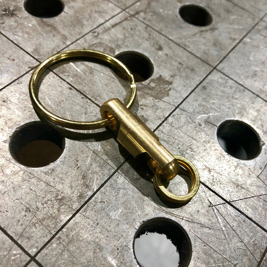 Brass Swivel Spinner for 30 Years Keychain