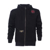 Web Cross Zip Hoody - Black