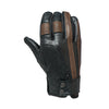 Grunge riding glove tobacco brown