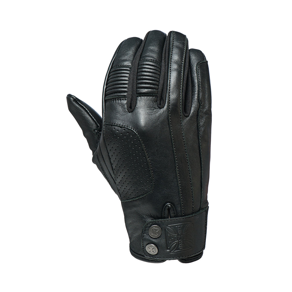 Grunge riding glove black