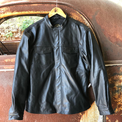 OG Leather Riding Shirt - Black