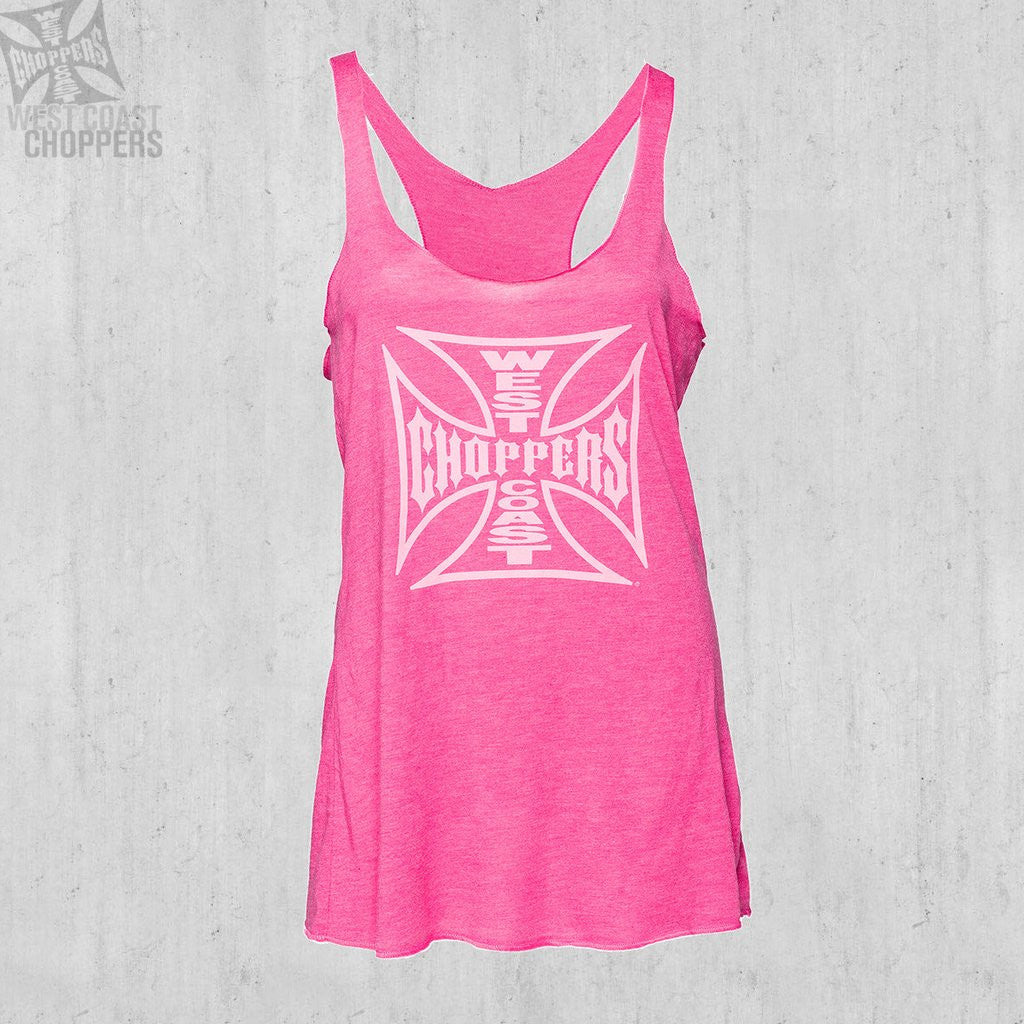 Ladies OG Cross Racerback Pink Melange