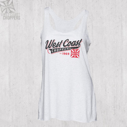 Ladies Baseball Racerback White