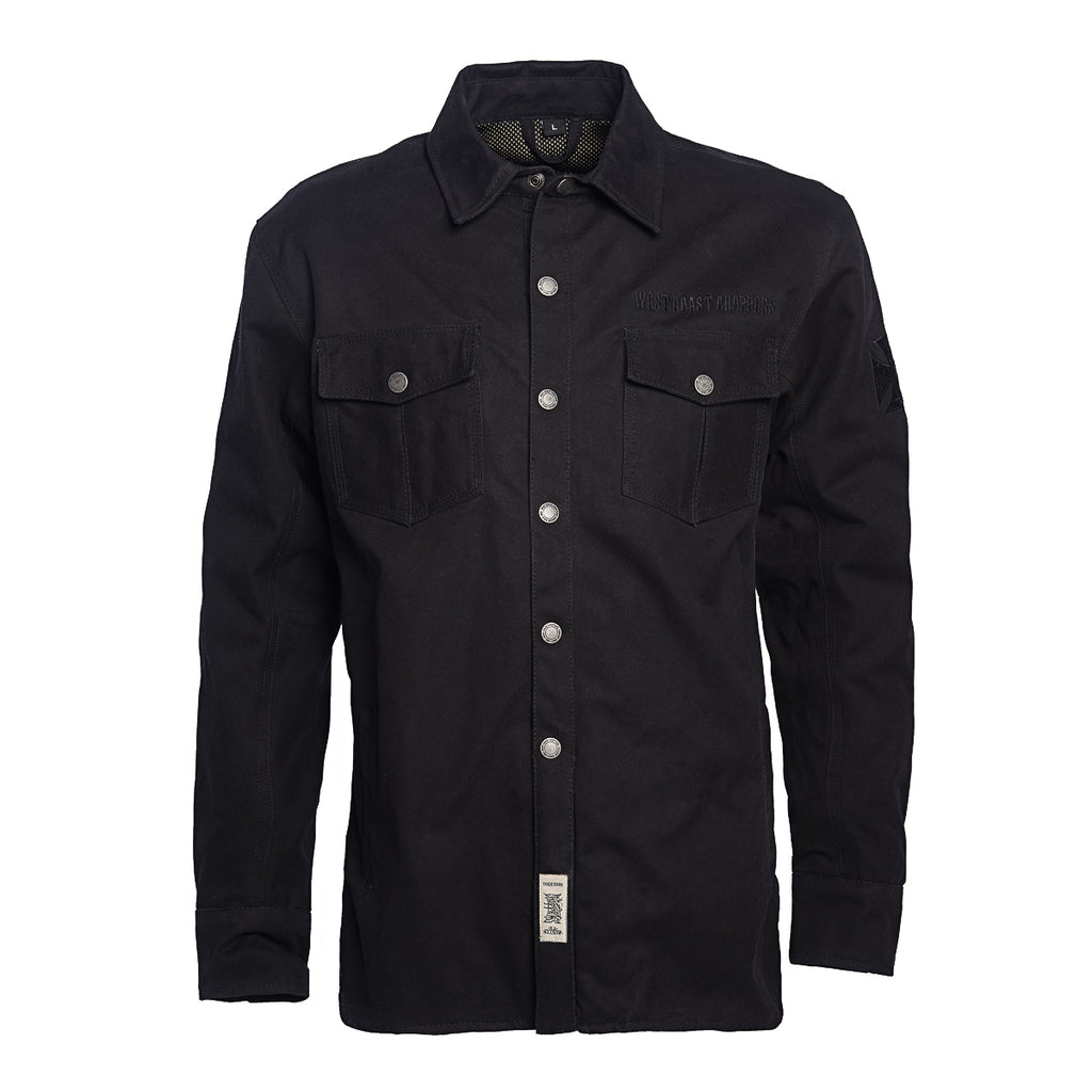 CE Tested OG Canvas Waterproof Riding Shirt - Black