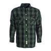 CE Tested Dominator Waterproof Riding Shirt - Green Black
