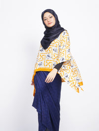 Short Butterfly Chiq Set - Yellow-Blue