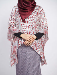 Short Butterfly ZigZag Set - Grey-Maroon