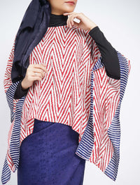 Short Butterfly ZigZag Set - Red-Blue