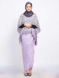 Short Butterfly ZigZag Set - Purple