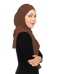 Lux Turban Chiffon Shawl - Brownie