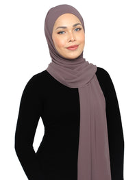 Lux Square Chiffon Shawl - Dusty Lavender
