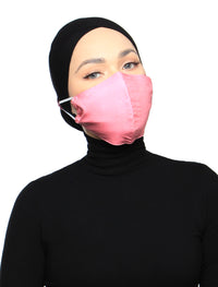 Organic Cotton Voile 3 Ply Face Mask - Blush