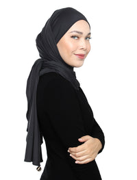 Lux Square Soft Jersey - Charcoal
