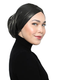 Metallic Jersey Turban - Dull Gold