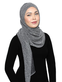 Lux Turban Glitter Textured Knit - Twinkling Grey