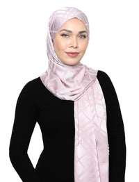 Lux Square Plaid Silky Satin - Pearl Pink