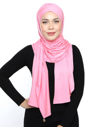 Lux Turban Jersey Shawl - Baby Pink