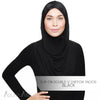 Adlina Anis -  Slip-on Double-V Chiffon Snood - Black