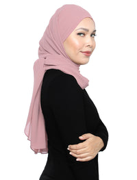 Lux Square Chiffon Shawl - Blush