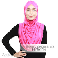 Instant V Braided Jersey - Berry Pink
