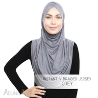 Instant V Braided Jersey - Grey