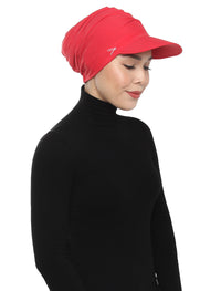 Aqua Sol Turban Cap - Chilli Red