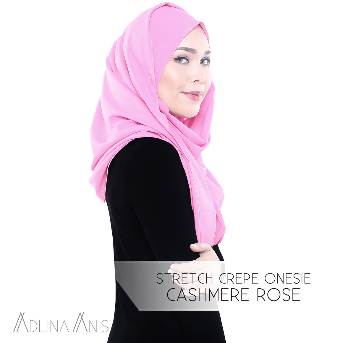 Stretch Crepe Onesie - Cashmere Rose