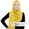 Instant Silky Satin Shawl - Ceylon Yellow