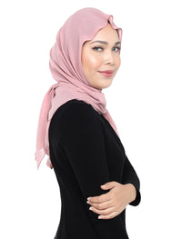 Crushed Chiffon Tri Scarf - Blush