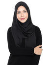 Crushed Satin Shawl Onesie - Black