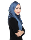 Crushed Satin Shawl Onesie - Dutch Blue
