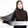 Adlina Anis - Curved Chiffon Shawl - Chocolate