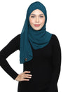 Lux Turban Chiffon Shawl - Dark Teal