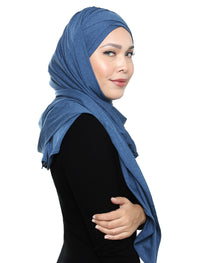 Lux Turban Soft Jersey - Denim Blue