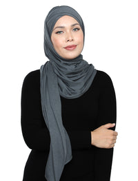 Lux Turban Soft Jersey - Denim Grey