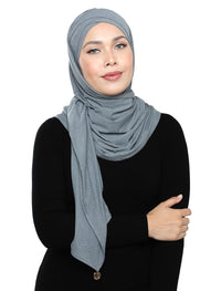 Lux Turban Soft Jersey - Denim Light Grey