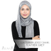 Lux Turban Jersey Shawl - Feather Grey