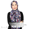 Finger Paint Heavy Chiffon Shawl - Deep Blue