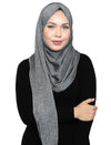 Lux Turban Glitter Knit - Grey/Silver