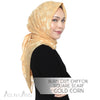 Burn Out Chiffon Square Scarf - Gold Corn