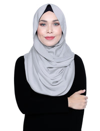 Silky Satin Snood Grande - Agate Grey