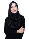 Silky Satin Snood Grande - Black