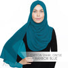 Chiffon Shawl Onesie - Harbor Blue