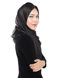 Jacquard Satin Shawl Onesie - Black