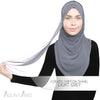 Adlina Anis - Curved Chiffon Shawl - Light Grey
