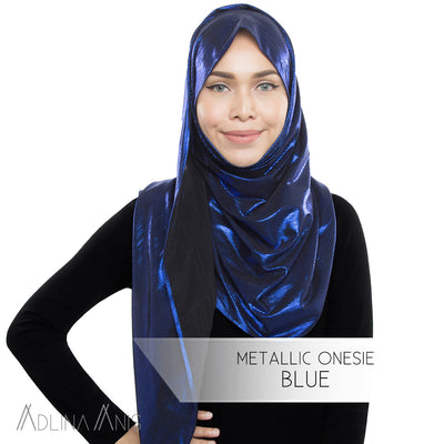 Metallic Onesie - Blue