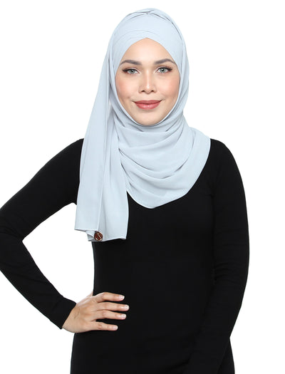 Lux Turban Chiffon Shawl - Misty Grey