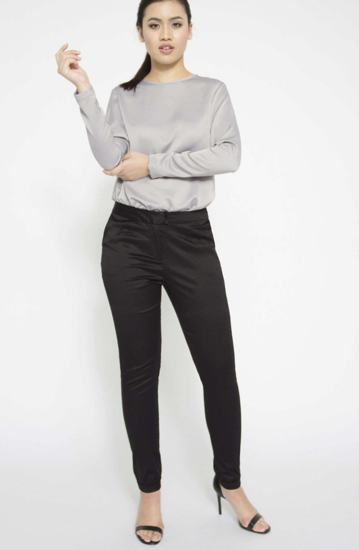 Tapered Stretch Cotton-Blend Pants