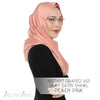 Instant Draped Vizi Silky Satin Shawl - Peach Pink
