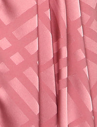 Lux Square Plaid Silky Satin - Sugar Rose